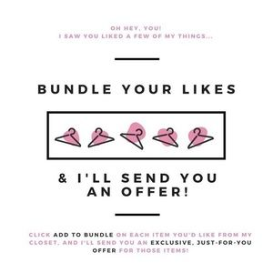 I offer deep discounts on bundles!